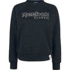 Reebok Iconic FL Crew Bluza damska czarny. Czarne bluzy z nadrukiem damskie marki Reebok, xl. Za 164,90 zł.