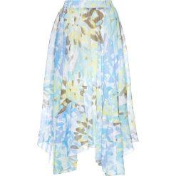 Spódniczki rozkloszowane: Spódnica szyfonowa z nadrukiem bonprix jasnoniebiesko-turkusowy z nadrukiem
