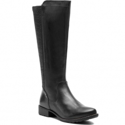 Oficerki JANA - 8-25601-21 Black 001. Czarne buty zimowe damskie Jana, ze skóry ekologicznej. W wyprzedaży za 329,00 zł.