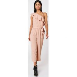 Kombinezony damskie: Rut&Circle Kombinezon na jedno ramię Ofelia – Pink