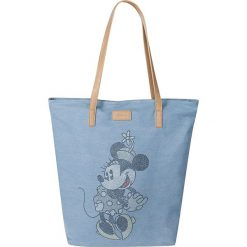 "Shopper bag damskie: Shopper bag ""Minnie Mouse"" w kolorze błękitnym – 47 x 45 x 12 cm"
