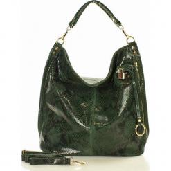 Skóra naturalna torebka worek Isabella MAZZINI zieleń. Zielone torebki worki MAZZINI, ze skóry. Za 279,90 zł.