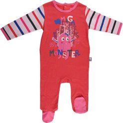 Śpiochy niemowlęce: Śpioszki w kolorze czerwonym ze wzorem
