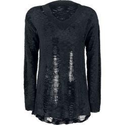 Forplay Destroyed Knitted Sweater Sweter damski czarny. Czarne swetry klasyczne damskie Forplay, s. Za 99,90 zł.