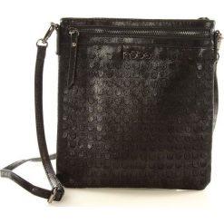 Listonoszki damskie: Life-stylowa torebka listonoszka czarna SARA