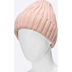 Answear - Czapka. Szare czapki zimowe damskie ANSWEAR, na zimę, z dzianiny. W wyprzedaży za 39,90 zł.