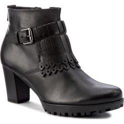Botki GABOR - 52.863.57 Schwarz. Czarne buty zimowe damskie marki Gabor, z materiału. W wyprzedaży za 269,00 zł.
