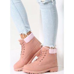 Buty zimowe damskie: Ciemnoróżowe Traperki Small Ice