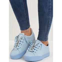 Niebieskie Buty Sportowe Zip-On. Niebieskie buty sportowe damskie Born2be. Za 69,99 zł.