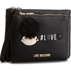 Torebka LOVE MOSCHINO - JC4075PP16LK0000 Nero. Czarne listonoszki damskie Love Moschino, ze skóry ekologicznej. W wyprzedaży za 409,00 zł.