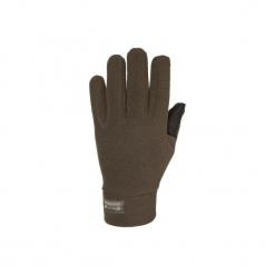 Rękawiczki myśliwskie 300. Brązowe rękawiczki męskie SOLOGNAC, z materiału. Za 34,99 zł.