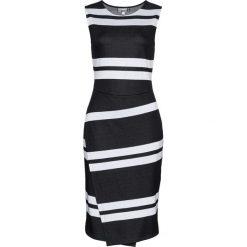 Sukienki: Sukienka bonprix czarno-jasnoszary w paski