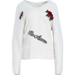 Kremowy Sweter Flaming. Białe swetry klasyczne damskie marki Born2be, l. Za 69,99 zł.