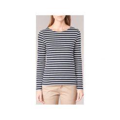T-shirty z długim rękawem Petit Bateau  LENY. Niebieskie t-shirty damskie Petit Bateau, xs, ze lnu. Za 207,20 zł.