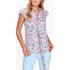 BLUZKA KRÓTKI RĘKAW O LUŹNYM KROJU. Szare bluzki koszulowe Top Secret, z krótkim rękawem. Za 49,99 zł.