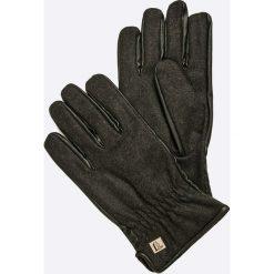 Trussardi Jeans - Rękawiczki. Czarne rękawiczki męskie Trussardi Jeans, z jeansu. W wyprzedaży za 199,90 zł.