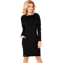 Sukienki: Silvia Sukienka z GOLFEM - grube punto - CZARNA