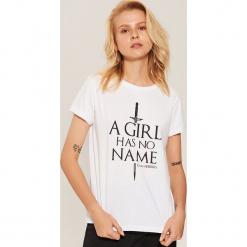 Koszulka Game of Thrones - Biały. Białe t-shirty damskie House, l. Za 39,99 zł.