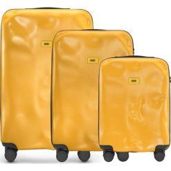 Walizki Icon w zestawie 3 el. matowy żółty. Żółte walizki Crash Baggage, z materiału. Za 2628,00 zł.