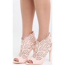 Różowe Sandały La Bella. Czerwone sandały damskie Born2be, z materiału, na wysokim obcasie, na obcasie. Za 99,99 zł.