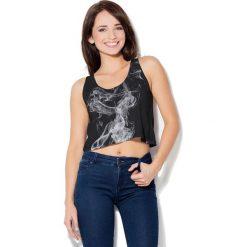 Colour Pleasure Koszulka damska CP-035 34 czarno-szaro-biała r. XS-S. Fioletowe bralety marki Colour pleasure, uniwersalny. Za 64,14 zł.