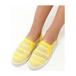 Żółte Espadryle Teardrops. Żółte trampki i tenisówki damskie marki Born2be, moro, na płaskiej podeszwie. Za 49,99 zł.