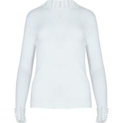 Biały Sweter Rashness. Czarne swetry klasyczne damskie marki Born2be, na jesień, l. Za 49,99 zł.