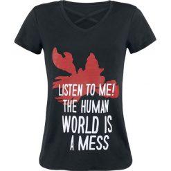 Ariel - Mała Syrenka Sebastian - Listen To Me Koszulka damska czarny. Czarne bluzki na imprezę Ariel - Mała Syrenka, l, z nadrukiem. Za 62,90 zł.