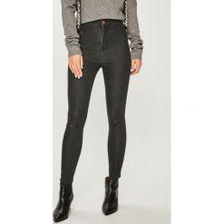 Answear - Jeansy. Szare jeansy damskie ANSWEAR, z bawełny, z podwyższonym stanem. Za 129,90 zł.