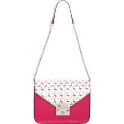 Torebki klasyczne damskie: Skórzana torebka w kolorze fuksji – (S)20 x (W)13 x (G)8 cm