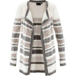 Swetry damskie: Kardigan z metaliczną nitką i puszystą przędzą bonprix brunatno-srebrny