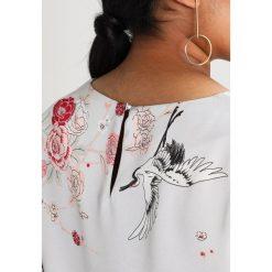 Bluzki asymetryczne: Dorothy Perkins Curve HERON PRINT BARDOT Bluzka grey