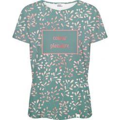 Colour Pleasure Koszulka damska CP-030 252 zielono-różowa r. XXXL/XXXXL. Czerwone bluzki damskie marki Colour pleasure. Za 70,35 zł.