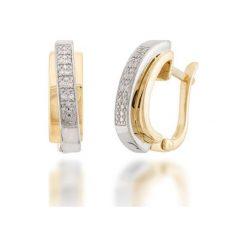 Zjawiskowe Kolczyki - , Diament 0,07ct. Żółte kolczyki damskie W.KRUK, z diamentem, złote. Za 2490,00 zł.