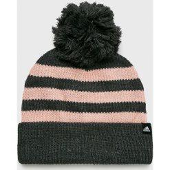 Adidas Performance - Czapka. Czarne czapki zimowe damskie adidas Performance, na zimę, z dzianiny. Za 79,90 zł.