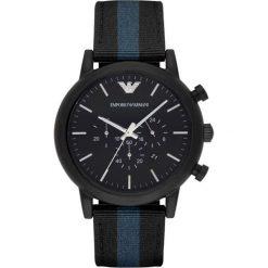 Emporio Armani - Zegarek AR1948. Szare zegarki męskie marki Emporio Armani, l, z nadrukiem, z bawełny, z okrągłym kołnierzem. W wyprzedaży za 869,90 zł.