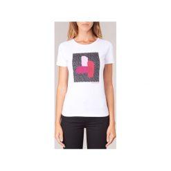 T-shirty z krótkim rękawem Armani jeans  DRENUZ. Czarne t-shirty damskie marki Armani Jeans, z jeansu. Za 271,20 zł.