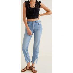 Mango - Jeansy Sayana. Niebieskie proste jeansy damskie marki Mango. Za 139,90 zł.