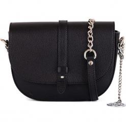 Skórzana torebka w kolorze czarnym - 21 x 16 x 6 cm. Czarne torebki klasyczne damskie Mia Tomazzi, w paski, z materiału. W wyprzedaży za 250,95 zł.