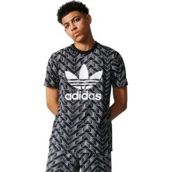 Koszulki do piłki nożnej męskie: Adidas Originals Koszulka męska  SOCCER AOP TEE  czarna r. L (BS4965)