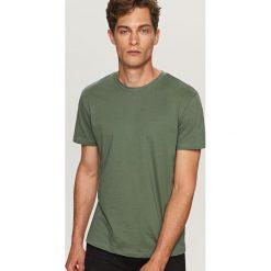 T-shirty męskie: Gładki t-shirt basic - Zielony