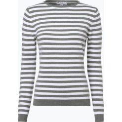 Swetry damskie: Marie Lund – Sweter damski z dodatkiem kaszmiru, zielony