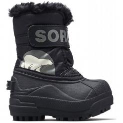 Sorel Dziecięce Buty Zimowe Snow Commander 25 Czarny. Białe buciki niemowlęce chłopięce Sorel, na zimę. Za 266,00 zł.