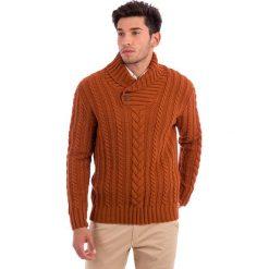 Swetry rozpinane męskie: Sweter w kolorze jasnobrązowym