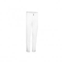 Spodnie baseball BA 550. Białe bryczesy damskie KIPSTA, s, z elastanu, na fitness i siłownię. Za 109,99 zł.