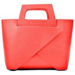 Torebki klasyczne damskie: Skórzana torebka w kolorze czerwonym – (S)25 x (W)40 x (G)12 cm