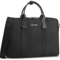 Torba na laptopa CALVIN KLEIN - Braced 1 G Laptop Bag K50K504223 Black 001. Czarne torby na laptopa Calvin Klein, z materiału. Za 649,00 zł.
