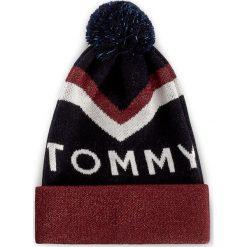 Czapki damskie: Czapka damska TOMMY HILFIGER – DENIM Tommy Chevron Pom Pom Beanie AW0AW04275 413