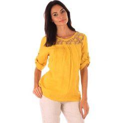 """Odzież damska: Lniana tunika """"Majorque"""" w kolorze żółtym"""