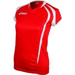 Asics Koszulka damska Fanny czerwono biała r. S (T751Z1.2601). Niebieskie topy sportowe damskie marki Asics, m, z elastanu. Za 65,00 zł.